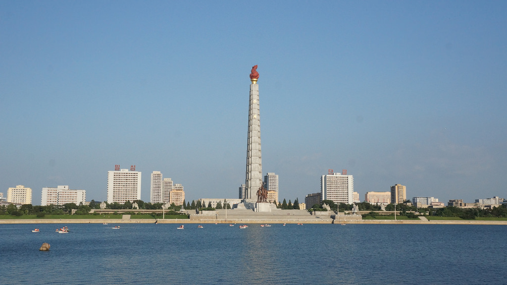 North Korea's capital, Juche and a towering achievement