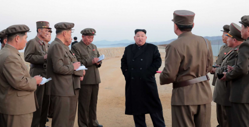 "Kim Jong Un inspects test of new ""tactical"" weapon: KCNA"