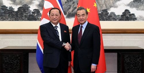 """China reiterates support for DPRK's """"new strategic line"""" at Ri, Wang meeting"""