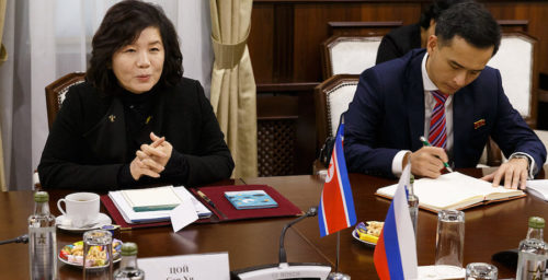 Choe Son Hui in Moscow: Russia tries to resuscitate flagging DPRK-U.S. diplomacy