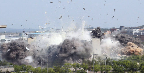 North Korea blew up the liaison office. Can the South Korean government sue?