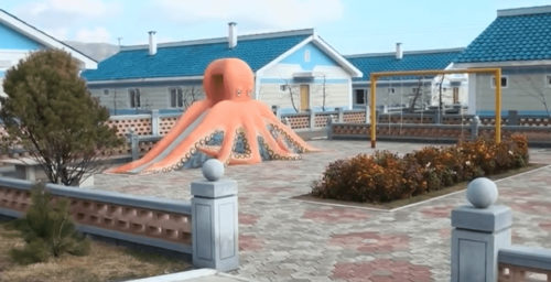 Giant octopus slide? North Korea shows off new, colorful 'socialist villages'