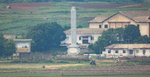 Photos: Amid North Korean 'food crisis,' farmers active near inter-Korean border
