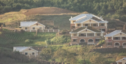 Photos: North Korean harvest, new homes as seen from South's new border lookout