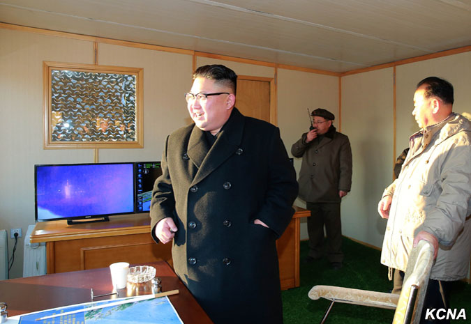 Kim Jong Un Guides Test-fire of Surface-to -surface Medium Long-range Ballistic Missile