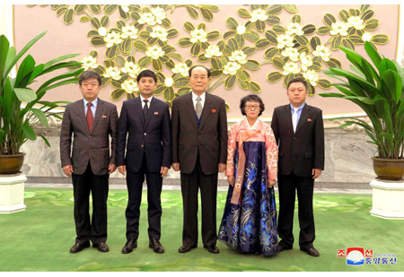 Kim Yong Nam Meets Delegation of Koreans in China