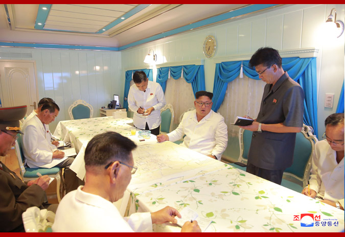 Supreme Leader Kim Jong Un Gives Field Guidance to Hot Spring Area, Yangdok County, South Phyongan Province