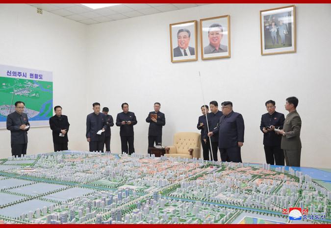 Supreme Leader Kim Jong Un Guides Master Plan for Construction of Sinuiju