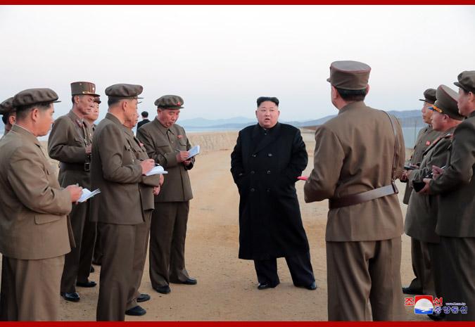 Supreme Leader Kim Jong Un Supervises Newly Developed Tactical Weapon Test