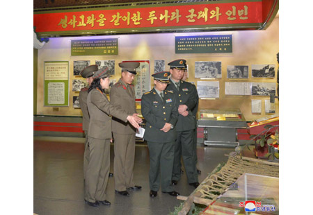 Leading Members of CPLA Literary Art Delegation Visit Mangyongdae