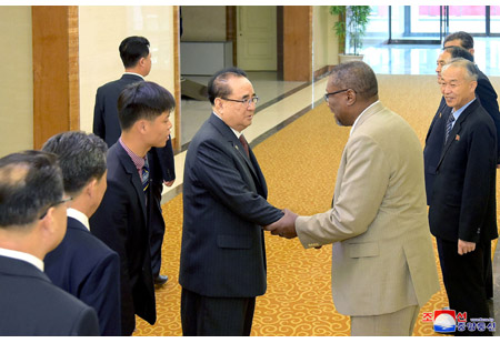 DPRK Party and Government Delegation Leaves for Cuba