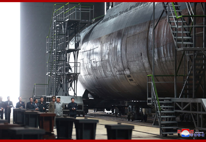 Supreme Leader Kim Jong Un Inspects Newly Built Submarine