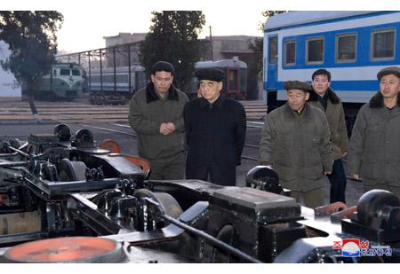 Pak Pong Ju Inspects Kim Jong Thae Electric Locomotive Complex