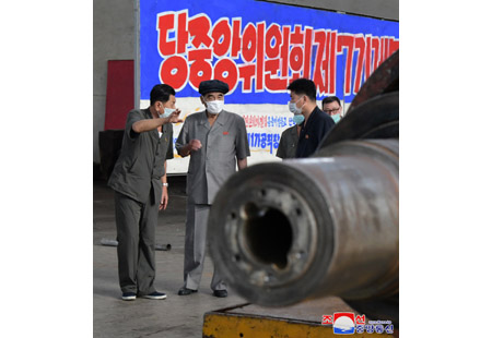 Pak Pong Ju Inspects Several Units in Nampho City