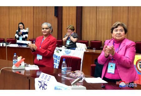 국제민주녀성련맹 서기국회의,집행위원회회의 페막