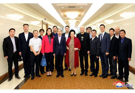 중국국제문화전파중심대표단 도착