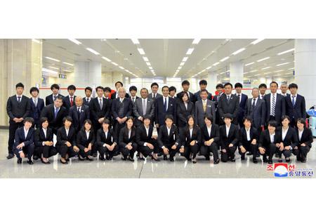 일본체육대학대표단 도착