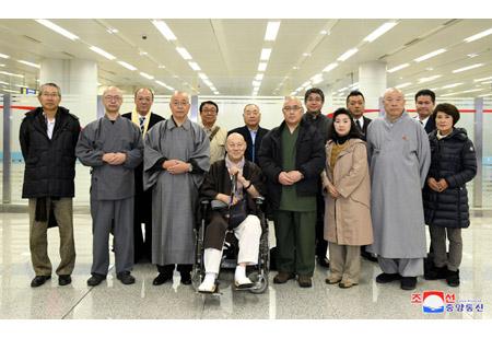일본 불교계대표단 도착