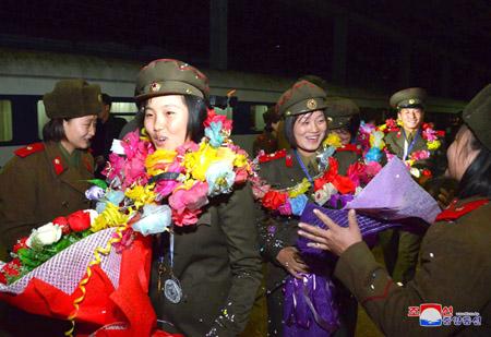 조선선수들 제1차 세계군대활쏘기선수권대회에서 성과 이룩