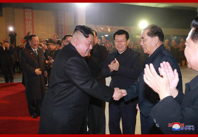 경애하는 최고령도자 김정은동지께서 로씨야련방을 방문하시기 위하여 출발하시였다