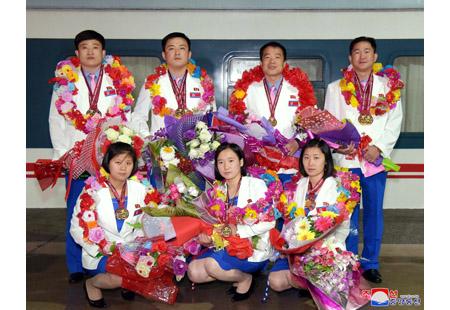 조선선수들 제14차 아시아사격선수권대회에서 성과 이룩