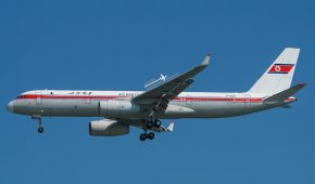 Air Koryo jet conducts in-country flight following two month absence