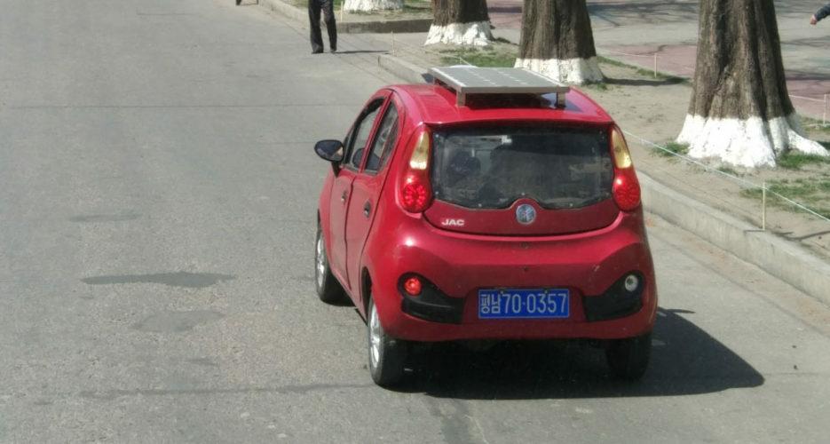 Solar cars increasingly seen in N.Korea's Pyongsong science hub