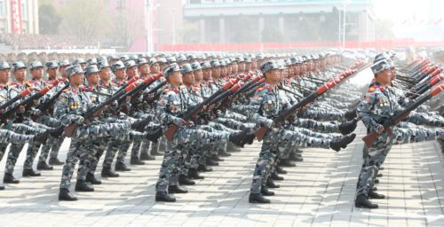 North Korea's April 15 parade: Big missiles, yes – but also small arms