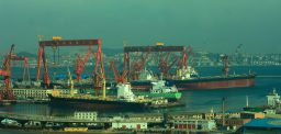 Sanctioned North Korean oil tanker and