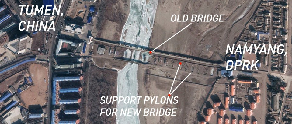 Construction again stalled at Tumen's new bridge to North Korea, images suggest