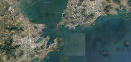 North Korean ships briefly appear near