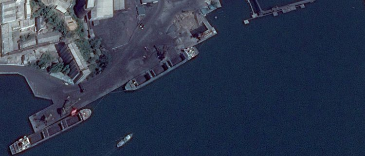 Satellite imagery time lapse shows continued activity at North Korean coal facilities