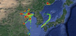 Heatmaps for 2018 show North Korean ve