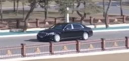 Kim Jong Un seen with new Mercedes-May