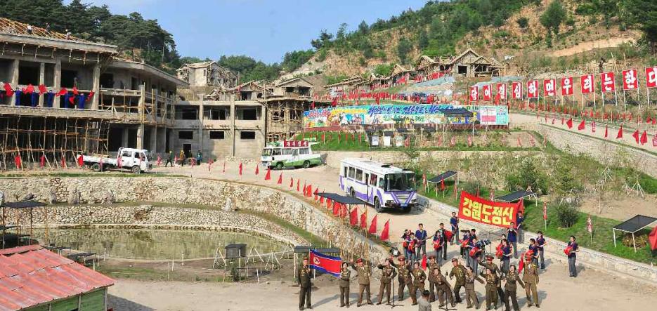 Yangdok hot springs and ski resort project taking shape as October deadline looms