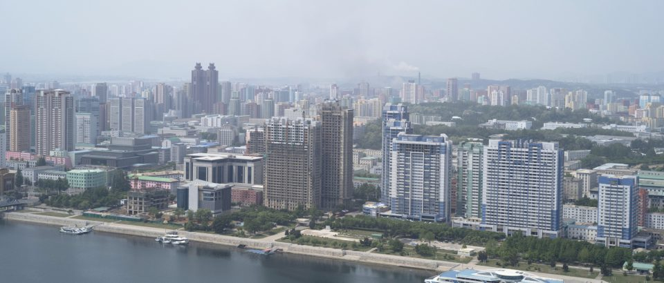 Construction on riverside towers, new university campus see progress in Pyongyang