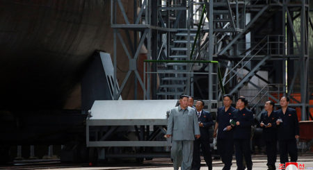 """What to make of North Korea's """"newly-built"""" submarine inspection"""