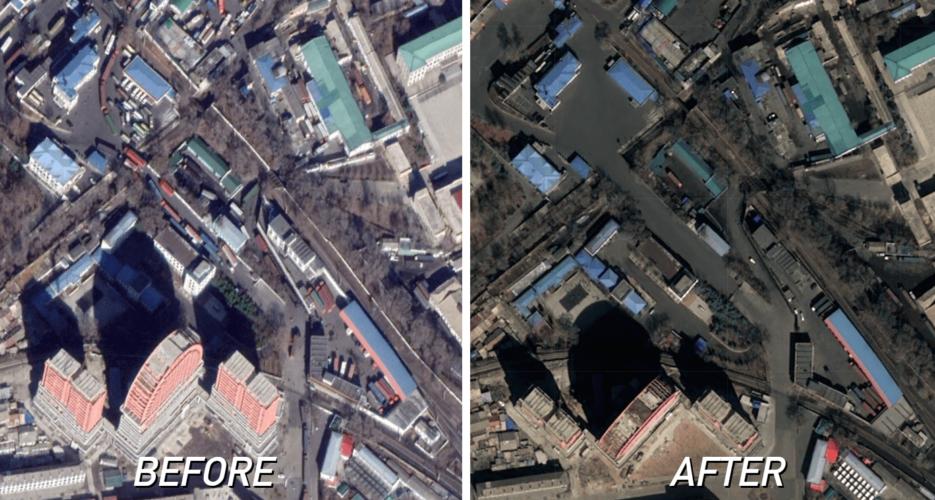 The coronavirus slowdown at North Korean ports, as seen from above
