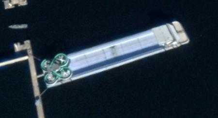Kim Jong Un's private 'floating amusement park' appears headed for Wonsan villa