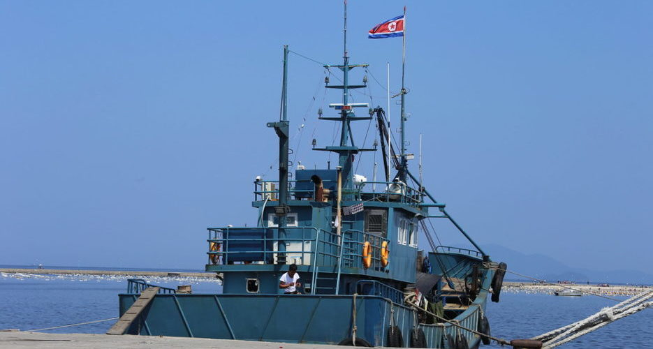 At least 14 North Korean ships disguise themselves in international waters