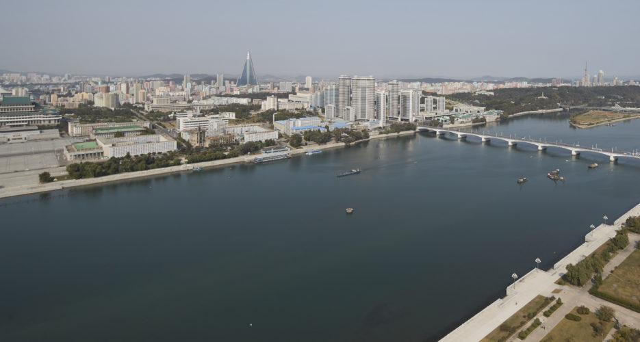 New road, bridge upgrades point to military parade preparations in Pyongyang