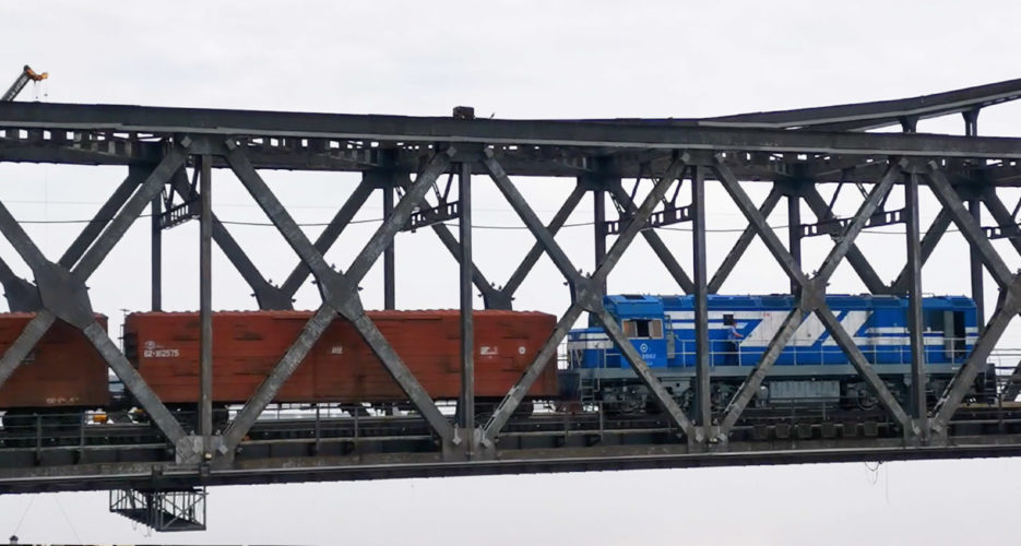 VIDEO: Despite COVID-19 fears, train delivers cargo across China-DPRK border
