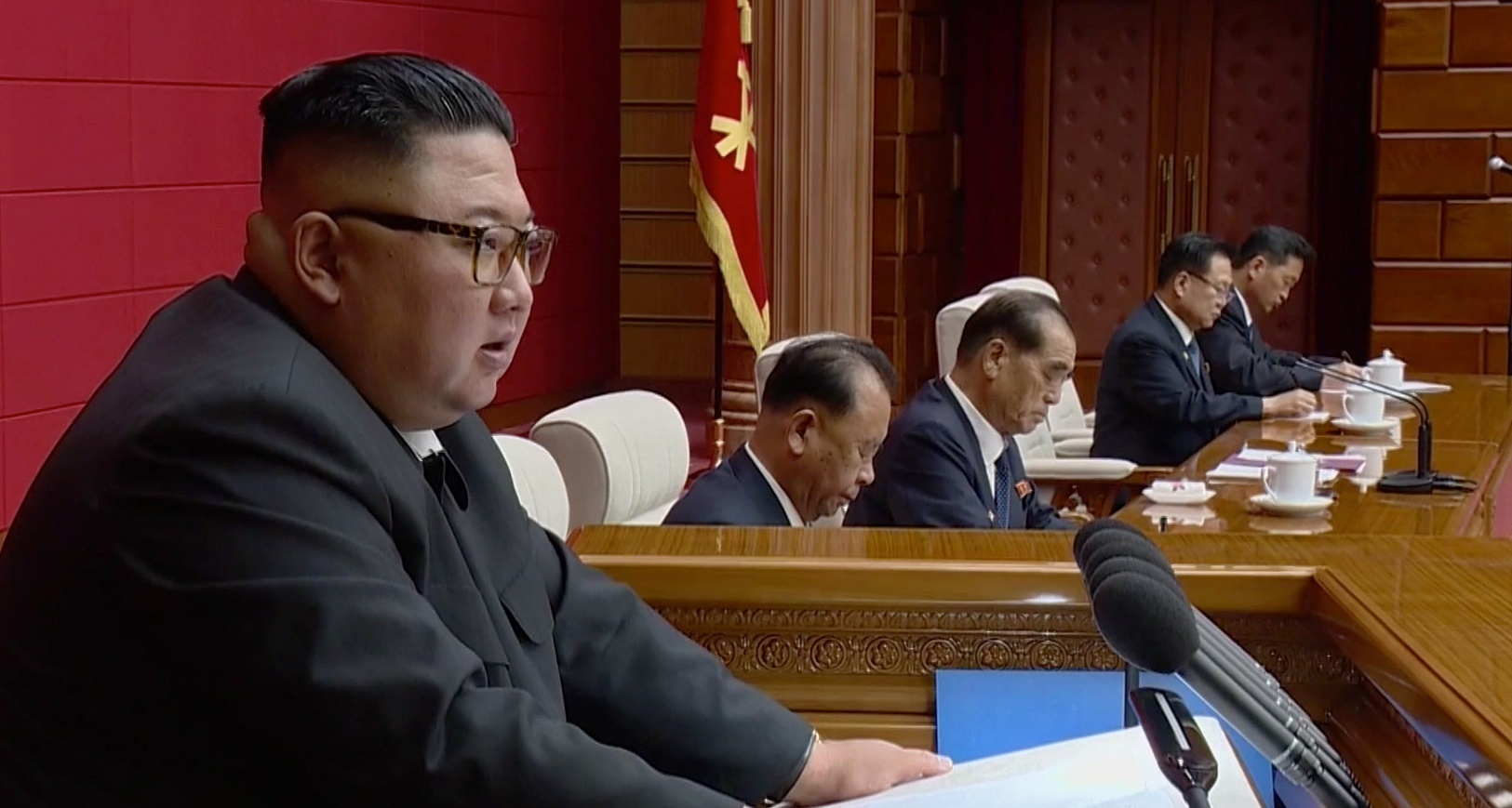 Kim Jong Un was elusive in 2020, but emerged for a surge of Politburo meetings
