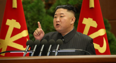 Was there a major shakeup of top officials at North Korea's politburo meeting?