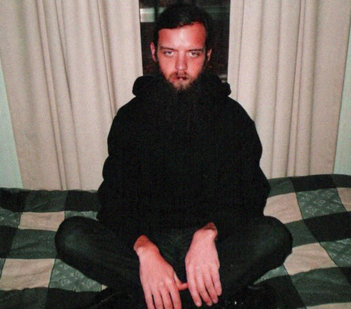 Joshua Sutter , former Aryan Nations white supremacist leader and leader of the Rural People's Party which holds North Korea and Jim Jones's as twin ideological mentors in his guise of Hindu priest, Shree Shree Kalki-Kalaratri at the Hindu New Bihar Mandir temple located on Sutter's rural South Carolina property. (Photo: newbiharmandir.org)