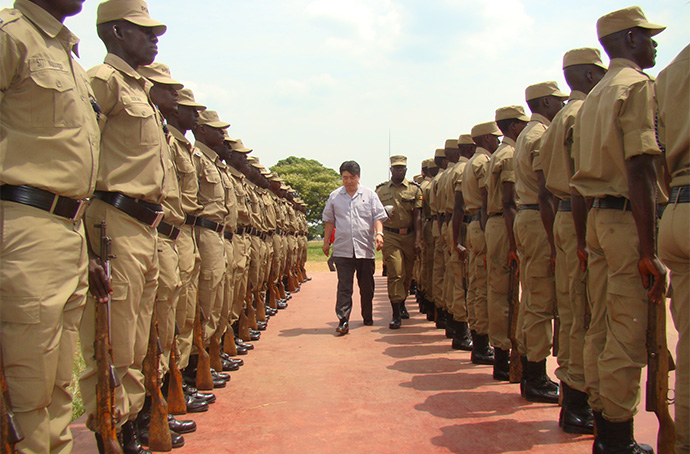 Troop-inspection-uganda