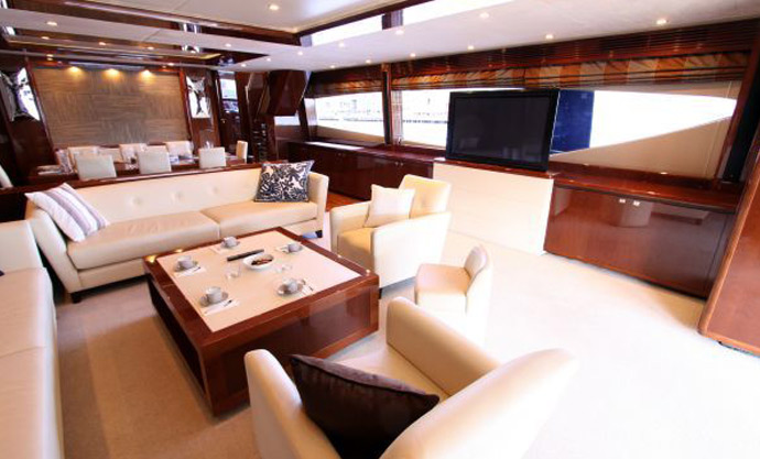 The interior of the Princess 95MY (Photo: Princess Yachts)