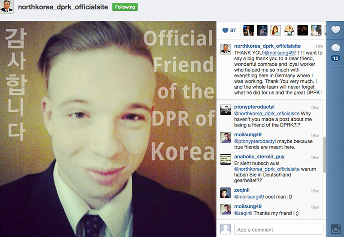real-dprk-instagram-user