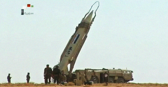 Syrian SCUD launcher, Syrian state TV