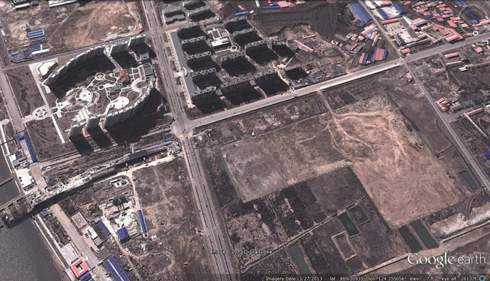 Image showing road in need of further development before bridge opens. (Photo: Google Earth)